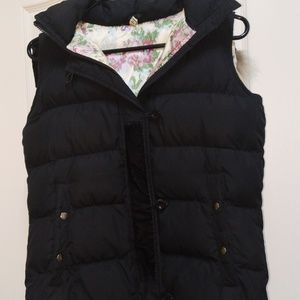 Joie black women's small vest with hood